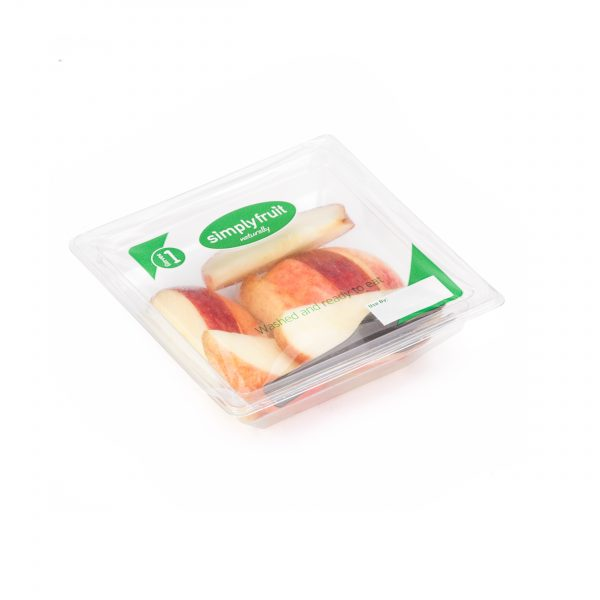 Simplyfruit Healthy 100g individual gala apple snack pot with spork.
