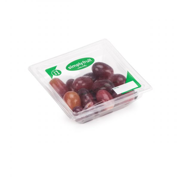 Simplyfruit Healthy 120g individual red grapes snack pot.