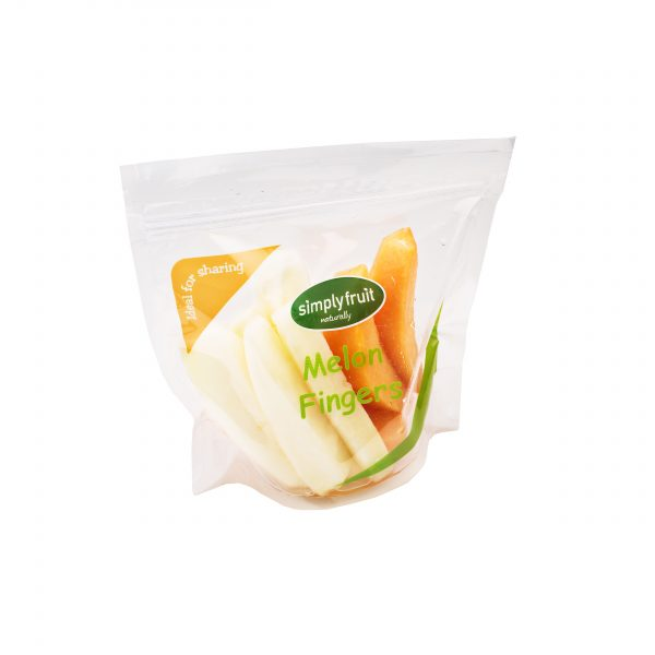 Simplyfruit Healthy 450g share resealable cantaloupe and honeydew melon fridge pack