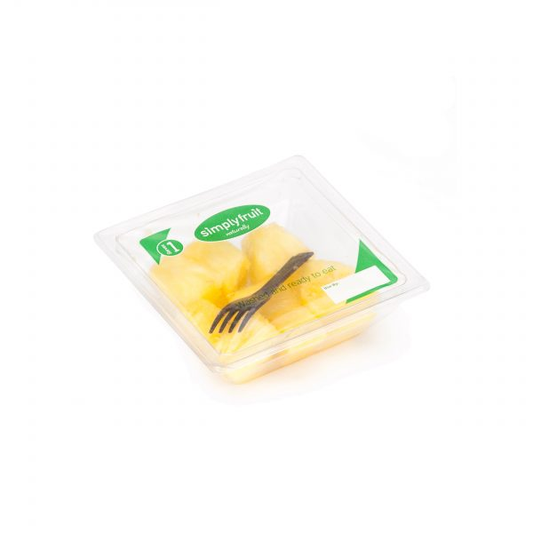 Simplyfruit Healthy Pineapple Chunks 120g individual snack pot with spork